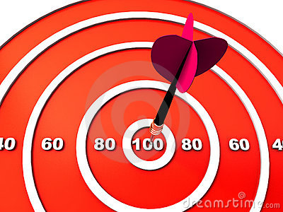Dart hitting the target