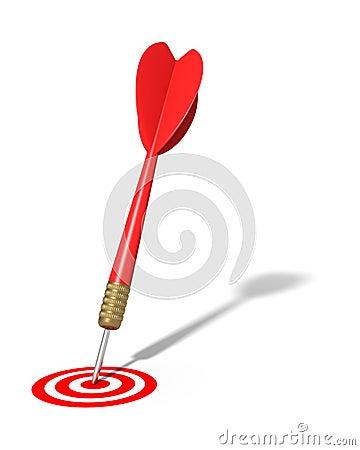 Dart Hitting Target (isolated)