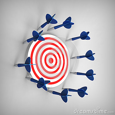 Free Dart Missed Its Target Stock Photo - 29205100
