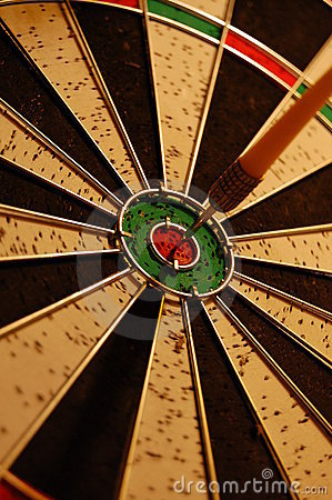 Dart in a target