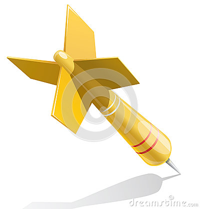 Dart target aim yellow illustration
