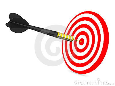 Dart on a white background
