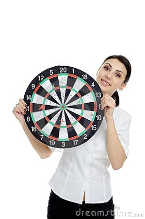 With dartboard