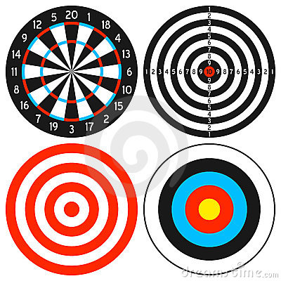 Free Dartboard And Target Set Stock Image - 22708471