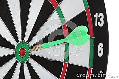 Dartboard bulls eye.