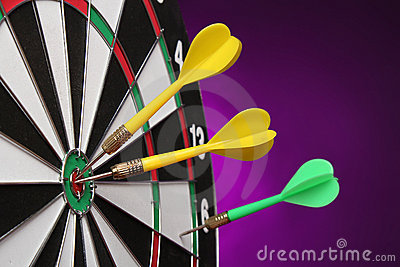 Dartboard bulls eye.