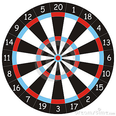 Dartboard for darts playing