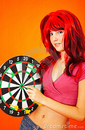 Dartboard Girl 2