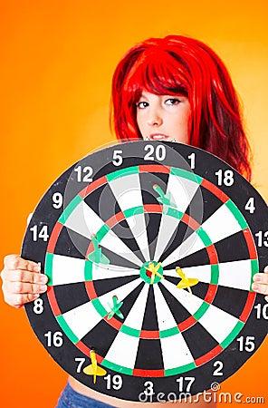 Dartboard Girl 5