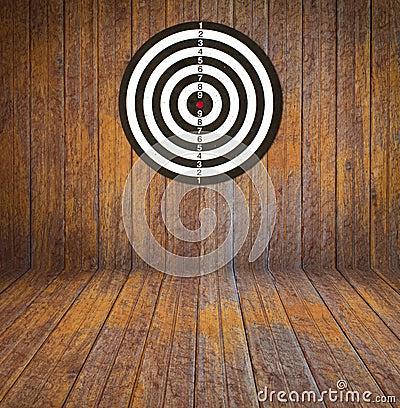 Free Dartboard On Room Wood Stock Image - 15760821