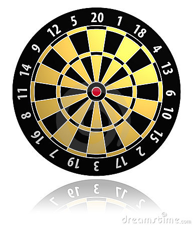 Free Dartboard Vector Illustration Stock Photos - 3499443