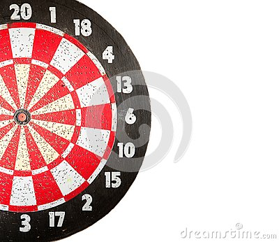 Dartboard on white