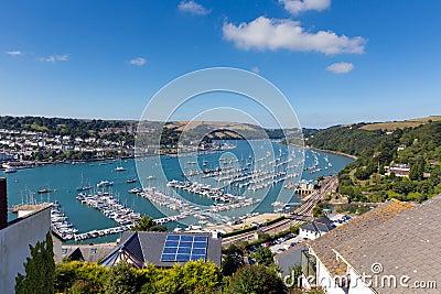 Dartmouth Devon and River Dart harbour England UK