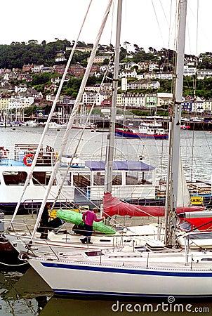 Dartmouth Harbour Ships United Kingdom England