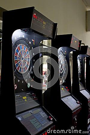 Darts boards in games area