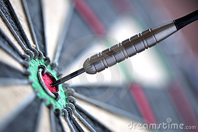 Darts in bull s-eye