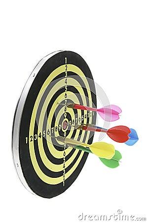 Darts on Dart Board
