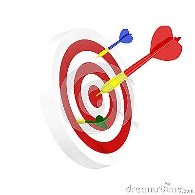 Darts symbol of right solution
