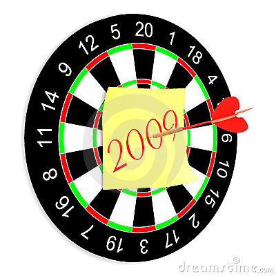 Darts on a white background.