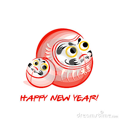 Daruma New Year card