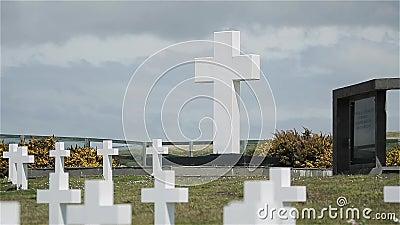 Darwin Argentyński Militarny cmentarz, Falkland wyspy Islas Malvinas zbiory