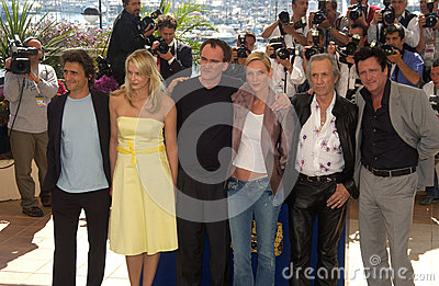 Daryl Hannah,David Carradine,Lawrence Bender,Michael Madsen,Quentin Tarantino,Uma Thurman Editorial Photo