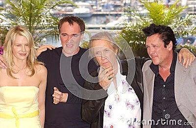 Daryl Hannah,David Carradine,Michael Madsen,Quentin Tarantino Editorial Stock Image
