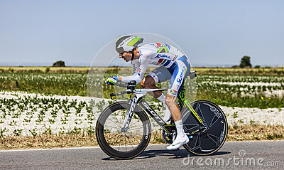 Велосипедист Daryl Impey Редакционное Изображение