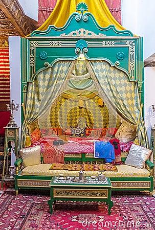 das arabische schlafzimmer redaktionelles foto - bild: 63491396, Schlafzimmer