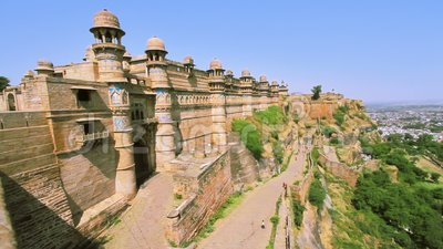 Das berühmte Gwalior-Fort stock video
