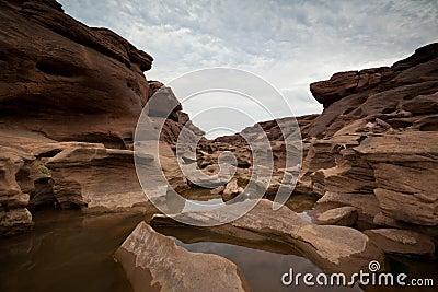 Das Überraschen des Felsens