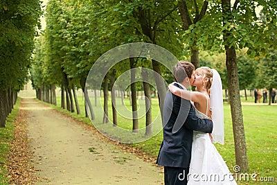 Das eben verheiratete Paar