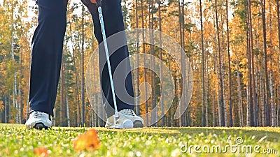 Das Golfspiel stock footage