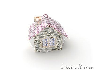 Das Haus gemacht von 100 Dollar