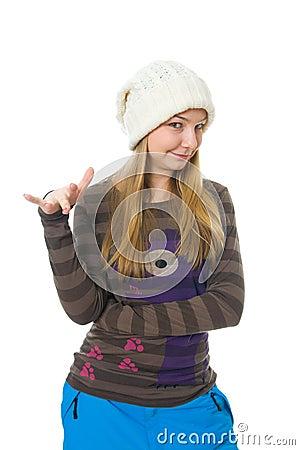 Das junge attraktive Mädchen