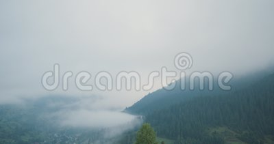 Das montanhas verdes exteriores do scape da natureza das montanhas Carpathian establisher aéreo selvagem voo do zang?o 4k que est filme