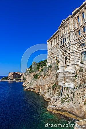 Das ozeanographische Museum in Monaco-Ville, Monaco, Cote d Azur