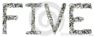Fünf - Quetschverbundene Rechnungen 100$