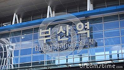 Das Zeichen von Gukje Market, Busan, Südkorea stock video footage