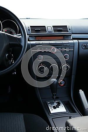 Dashboard of a car closeup