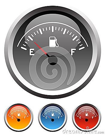 Dashboard fuel gauges