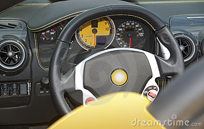 Dashboard and steering wheel
