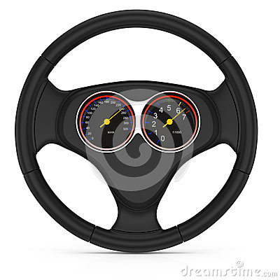 Dashboard on steering wheel