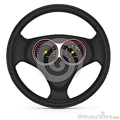 Dashboard on steering wheel