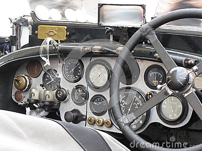dashboard and steering wheel in interior of british classic sport car isolated on white. Black Bedroom Furniture Sets. Home Design Ideas