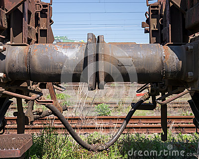 Dashpot of a freight train