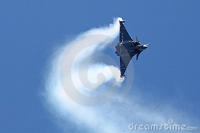 Dassault Rafale during a acrobatic flight Editorial Image
