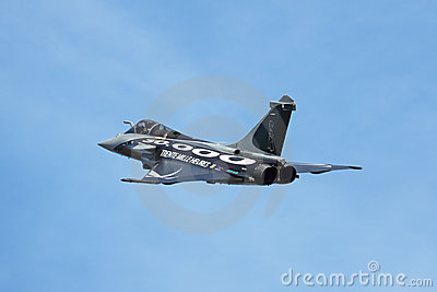 Dassault Rafale side view Editorial Stock Image