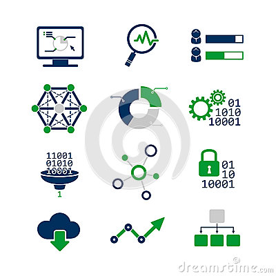 Free Data Analytic Icons Set Royalty Free Stock Images - 43412459