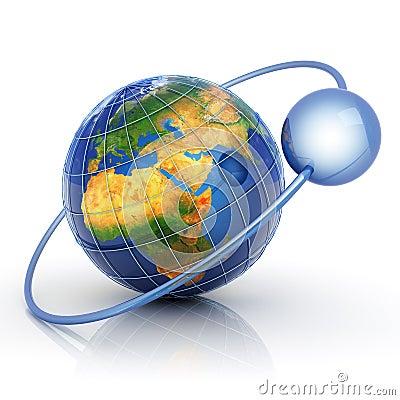 Data around world concept